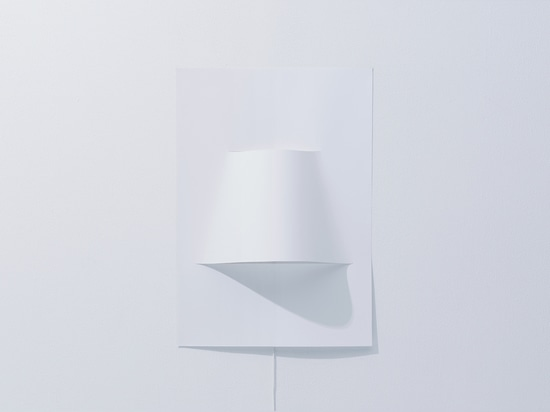 LED POSTER LAMP MADE FROM A SHEET OF PAPER
