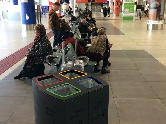 Windows bin at the Airport Falcone & Borsellino
