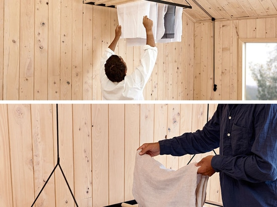 Since Warm Air Rises, This Suspended Drying Rack Is Designed To Take Advantage Of That By Elevating Clothes Up To The Ceiling