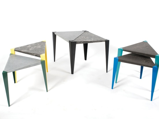 Adaptable can be used alone as a side table or as a cluster to form a larger coffee table.