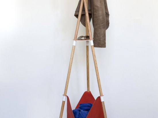 The Teepee Coat Stand is easily taken apart and can be used to hold your coins, glasses, keys, coat and more.