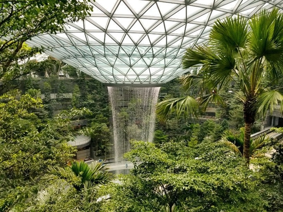 giant indoor waterfall previewed ahead of jewel changi airport's april opening