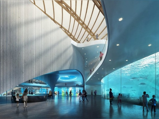 ennead architects plans nature reserve with a public aquarium in china