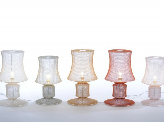 KNITTED LAMPS BY STUDIO MEIKE HARDE