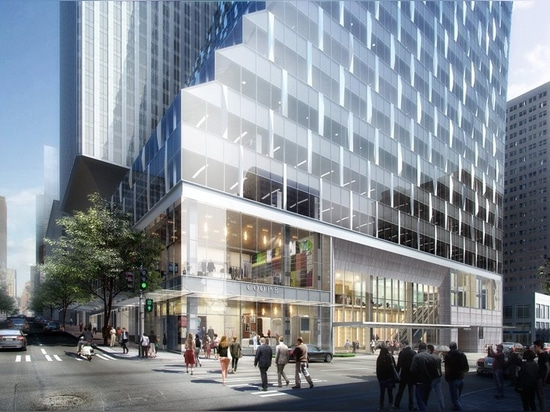 seattle's rainier square tower is clad in curtain wall of 140 3D-printed nodes