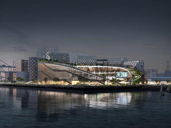 bjarke ingels group revises design for the oakland A's new ballpark