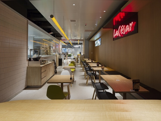 La Cesar Pizza Restaurant Project. feat. TA Yi Arm chair by TOOU.
