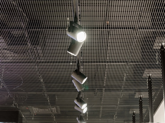 Metal ceiling in the Sportofino store