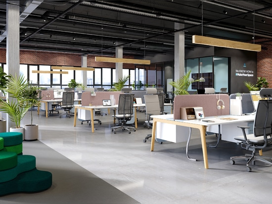 Corporate office inspired by co-working