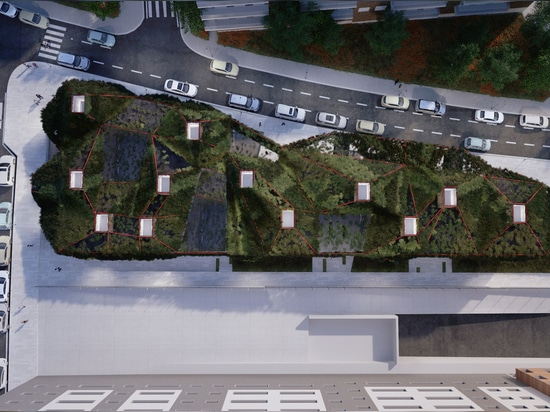 Green Spaceship: Vegetated Library to Land in Madrid's Villaverde