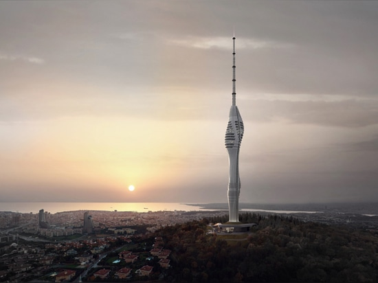 newest imagery has been revealed of istanbul's futuristic radio tower
