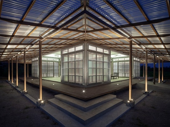 junsekino builds a translucent library for community in rural thailand
