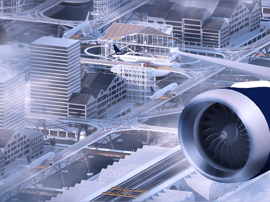 Stockholm City Airport/Airport City is a conceptual proposal that raises airport runways above the Stockholm cityscape.   Read more: The insane plan to build an airport right above city streets Sto...