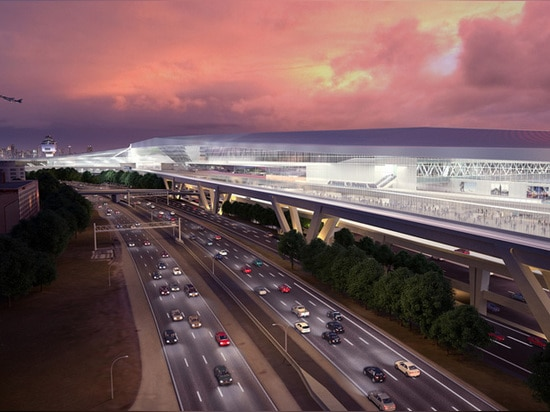 by removing existing parking structures, designers were able to increase terminal size and taxiways