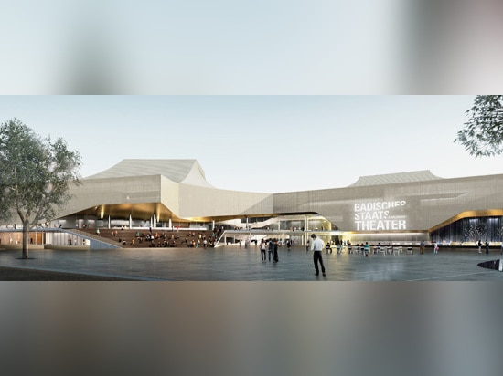 the theater is extended along three development axes