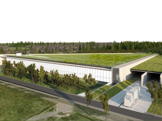 the 20,000 sqm building will feature a green roof