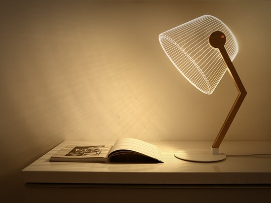studio cheha's bulbing lamp etches acrylic to create 3D appearance