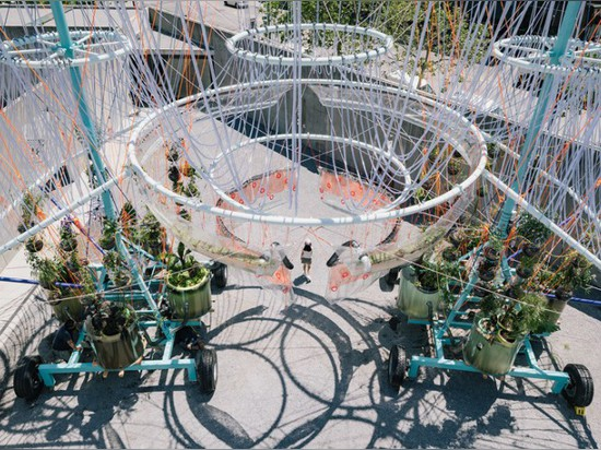ANDRÉS JAQUE DESIGNS ENORMOUS WATER PURIFIER FOR MOMA PS1