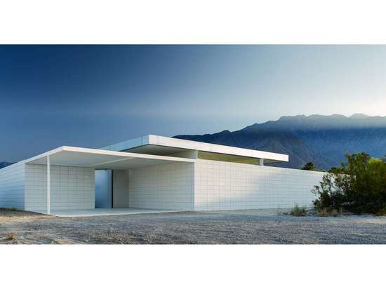 DESERT HOUSE by Jim Jennings Architecture, Palm Springs, Calif. Built on a plot of virgin land near the San Jacinto Mountains, this project features an eight-foot painted concrete wall that surroun...