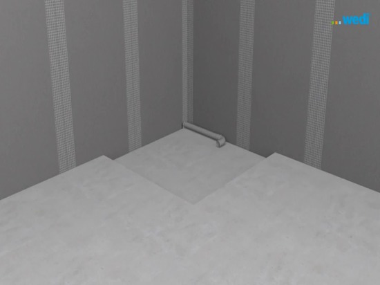 Installation of Fundo Integro flush-to-floor shower element