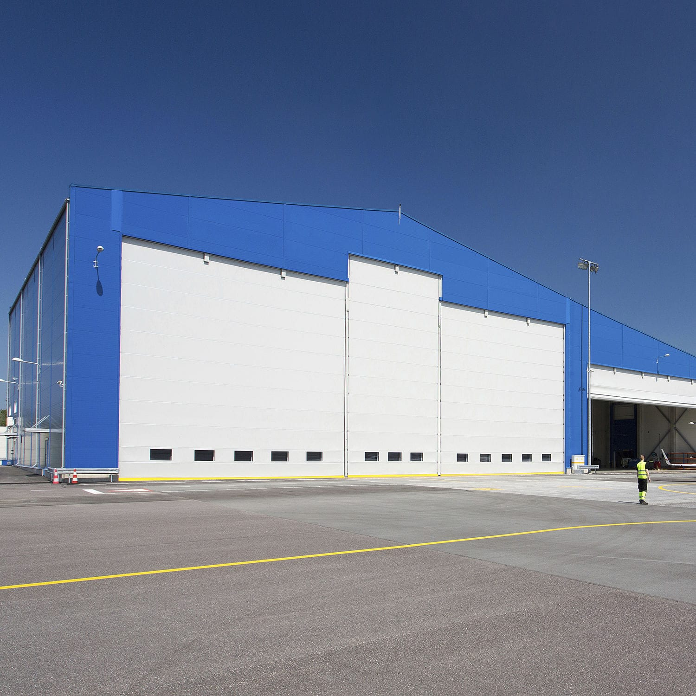 積み重ね式産業ドア 布製 風耐性 倉庫用 hangar door champion