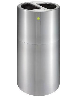 分別ゴミ箱 ブリキゴミ箱 ダストBOX42C グリーン
