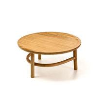 コンテンポラリーコーヒーテーブル / 木製 / 円形 / 屋外