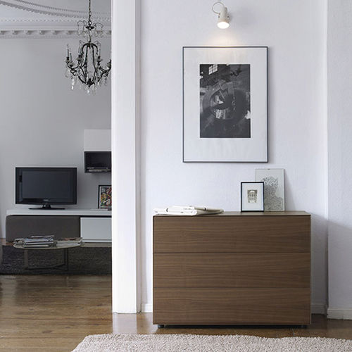 コンテンポラリーチェスト / 木製 / 白 / 茶色