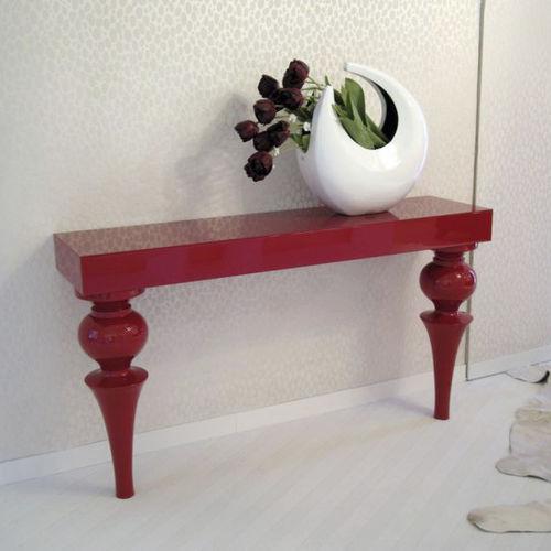 コンテンポラリーサイドボードテーブル / 漆木材 / 木製プレート製 / 長方形