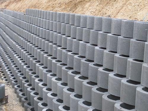 ホローコンクリートブロック / 擁壁用 / 打放し