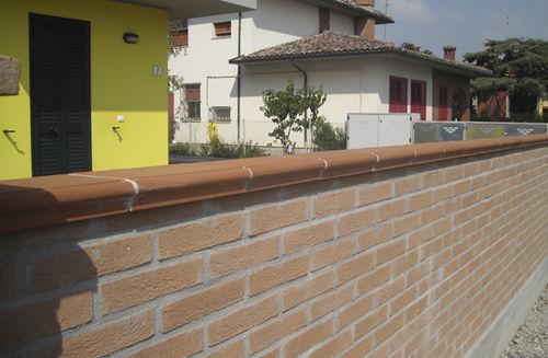 欄干型外壁頭部 / ガーデンフェンス用 / テラコッタ
