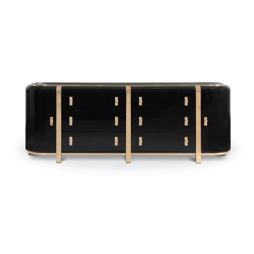 コンテンポラリーサイドボード / ポリッシュ真鍮製 / 銅製 / ブラッシュド黄銅