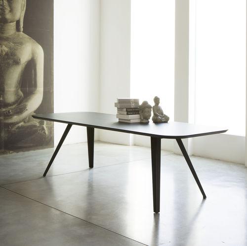 コンテンポラリー食卓テーブル / トネリコ材 / MDF / 金属製