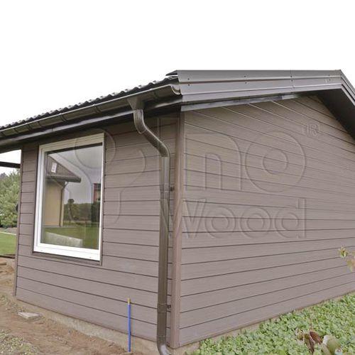木材・プラスチック複合材クラッディング / ブラッシング仕上げ / 薄板製 / 木材風