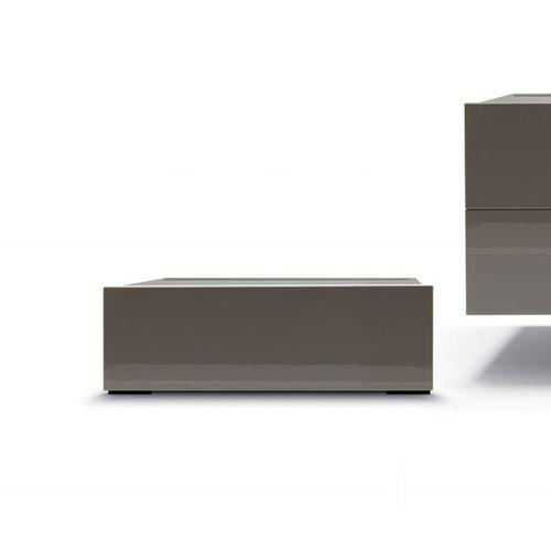 コンテンポラリーベッドテーブル / 漆木材 / 金属製 / 長方形