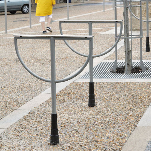 スチール製自転車ラック / ステンレススチール製 / 公共スペース用 / セキュリティ