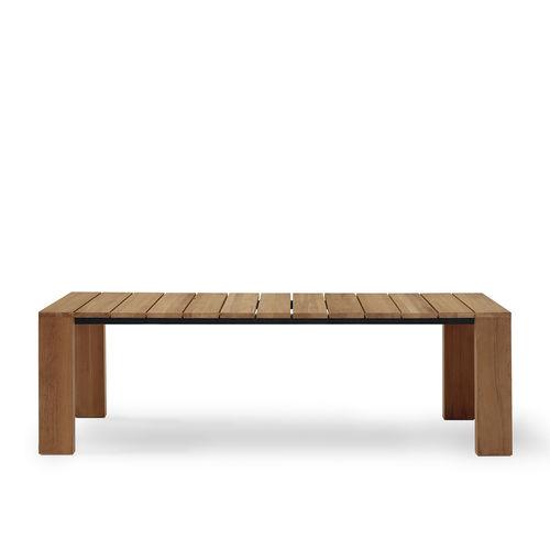 コンテンポラリーテ-ブル / チーク材 / 長方形 / ガーデン用