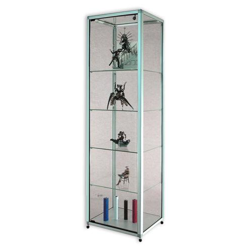 コンテンポラリー展示ケース / スタンド式 / ガラス製 / 業務用