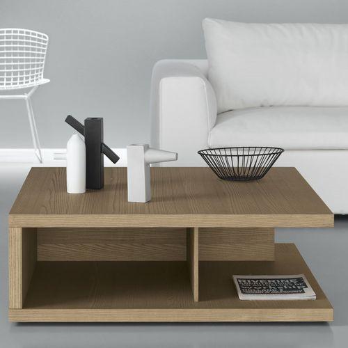 コンテンポラリーコーヒーテーブル / 漆木材 / トネリコ材 / 長方形