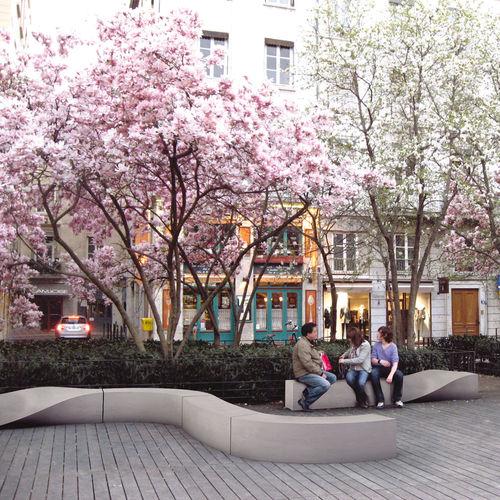 公共ベンチ / オリジナルデザイン / 複合金属製 / モジュール式
