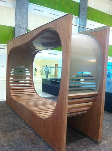 公共ベンチ / オリジナルデザイン / エキゾチック木材 / 亜鉛めっき鋼製