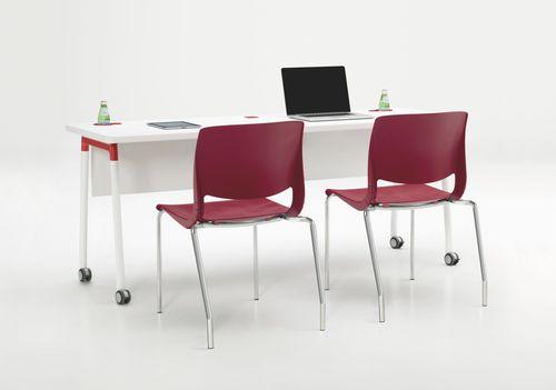 コンテンポラリー教室用テーブル / 木製 / ガラス製 / ラミネート状