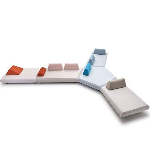モジュール式ソファー / コンテンポラリー / ガーデン用 / 布製