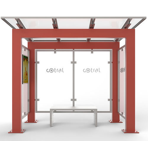 金属製バスシェルター