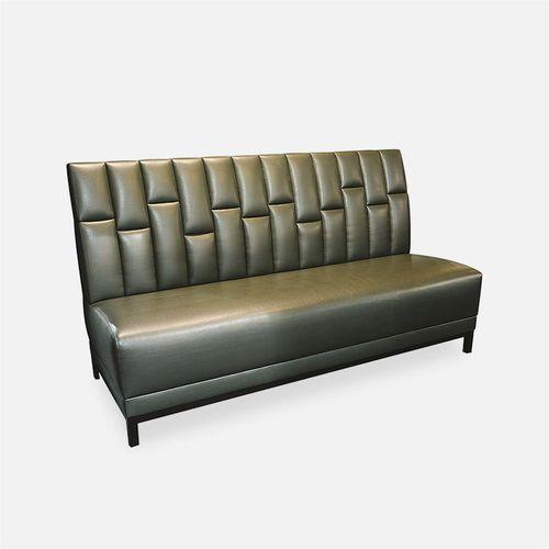 ビストロ用布張りベンチ / コンテンポラリー / 布製 / レザー