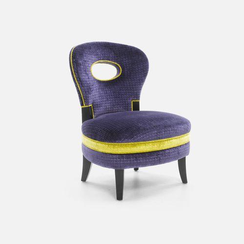 コンテンポラリー安楽椅子 / 布製 / フットレスト付き / 業務用