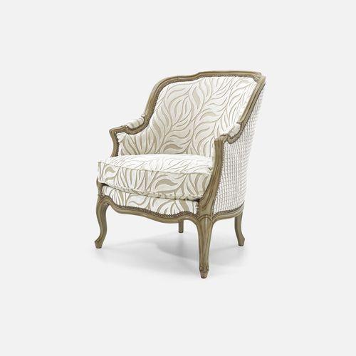 ルイ14世スタイルアームチェア / ブナ材製 / 布製 / ウィング