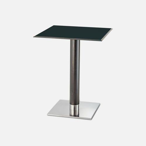 コンテンポラリービストロ用テーブル / ブナ材製 / ステンレススチール製 / 四角形