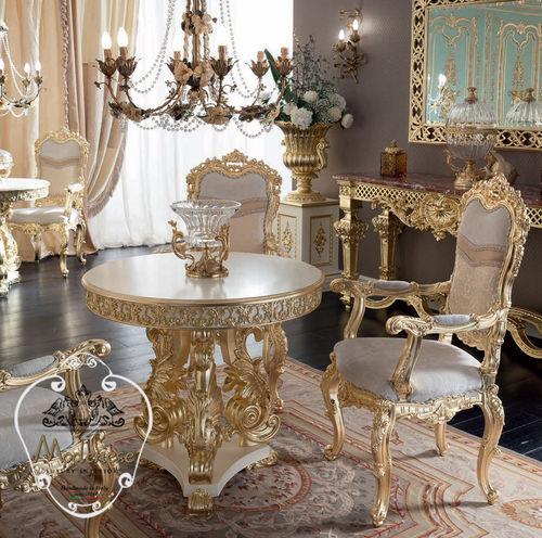 クラシックテーブル / ソリッド ウッド製 / 無垢木材製 / 円形