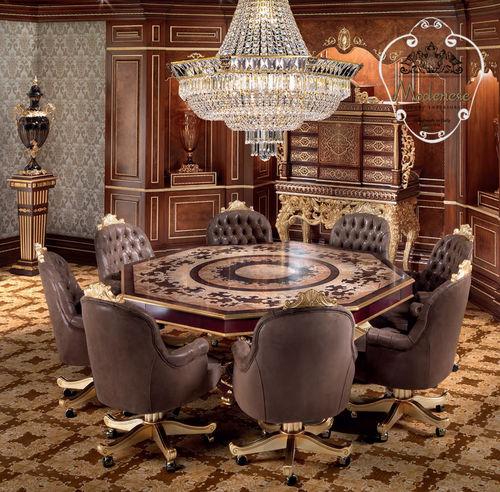 クラシックテーブル / ソリッド ウッド製 / 無垢木材製 / 八角形